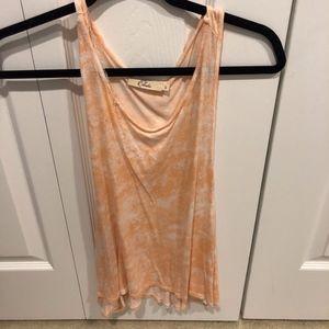 Orange Tie-Dye Tank Top